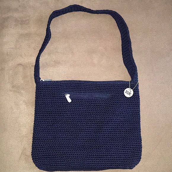 The Sak Bags Navy Crochet Shoulder Bag Poshmark